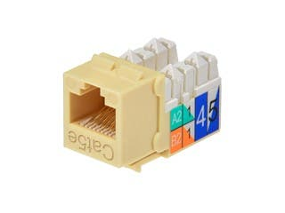 Product Image for Cat5E Punch Down Keystone Jack - Beige