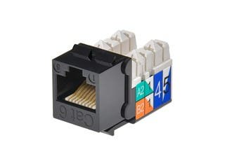 Product Image for Monoprice Cat6Punch Down Keystone Jack - Black