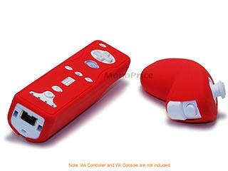 Product Image for Silicone Skin for Wii Remote Control and Nunchuk - Red