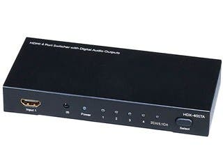 Product Image for 4x1 HDMI Switch with Analog, Digital Coaxial, and Digital Optical Audio Outputs