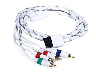 Product Image for Monoprice 6FT Audio Video ED Component Cable for Wii & Wii U - White (Net Jacket)