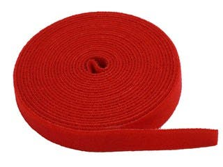 Product Image for Hook & Loop Fastening Tape 5 yard/roll, 0.75-inch  - Red