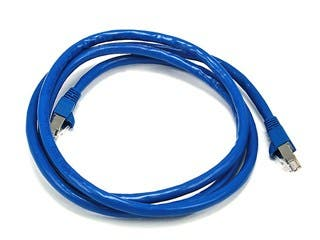 Product Image for Cat6A 26AWG STP Ethernet Network Patch Cable, 10G, 5ft Blue