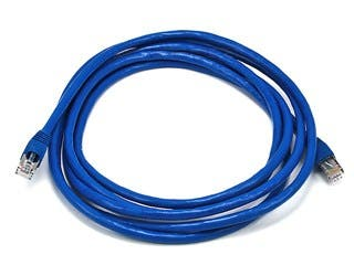 Product Image for Cat6A 26AWG STP Ethernet Network Patch Cable, 10G, 10ft Blue