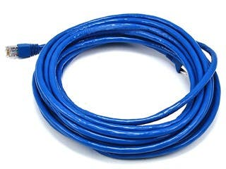Product Image for Cat6A 26AWG STP Ethernet Network Patch Cable, 10G, 25ft Blue