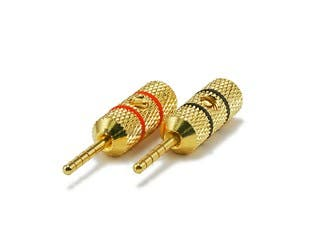 Product Image for 1 PAIR OF High-Quality Gold Plated Speaker Pin Plugs, Pin Crimp Type