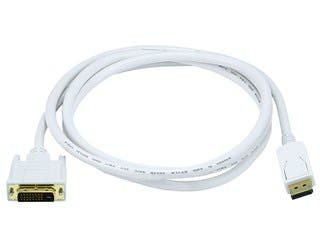 6ft 28AWG DisplayPort to DVI Cable - White