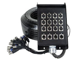 Product Image for 16-channel XLR Snake & 12x4 Stage Box - 98 feet (30 Meters)
