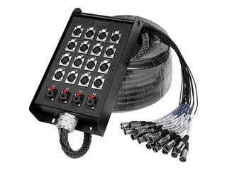 Product Image for 20-Channel Snake & 16 XLR x 4 TRS Stage Box - 100 feet