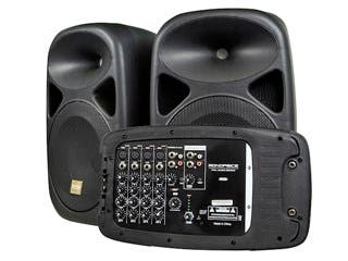 Product Image for Stage Right 130-Watt 8-channel PA System with Two 10-inch Speakers