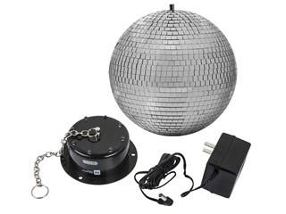 Product Image for Stage Right 10-inch Mirror Ball & Motor with LED Lights
