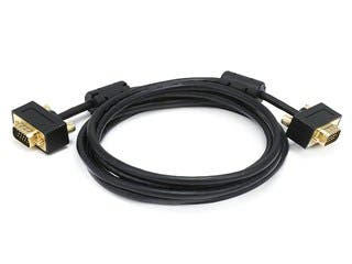 Product Image for Monoprice 6ft Ultra Slim SVGA Super VGA 30/32AWG M/M Monitor Cable w/ ferrites (Gold Plated Connector)