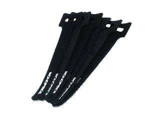 Product Image for Monoprice Hook and Loop Fastening Cable Ties, 6 in, 50 pcs/pack, Black