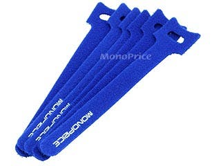 Product Image for Hook & Loop Fastening Cable Ties, 6-inch, 50pcs/pack, Blue