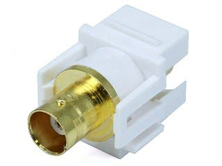 Product Image for Monoprice Keystone Jack - Modular BNC (White)