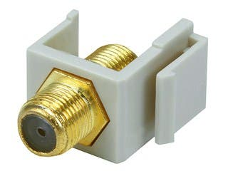 Product Image for Keystone Jack - Modular F Type (Ivory)