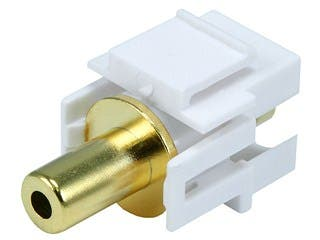 Product Image for Monoprice Keystone Jack - 3.5mm Stereo, Flush Type (White)