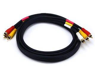 Product Image for RCA Coaxial Composite Video and Stereo Audio Cable, 6ft