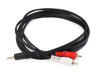 Product Image for 6ft 3.5mm Stereo Plug/2 RCA Plug Cable, Black