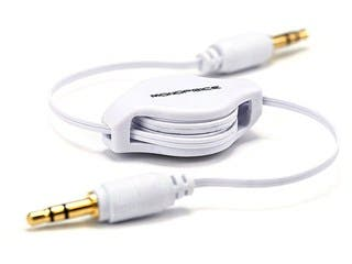 Product Image for 2.5ft Retractable 3.5mm Audio Cable - White