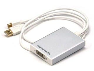 Product Image for Mini DisplayPort 1.1 + USB to Dual-Link DVI Adapter