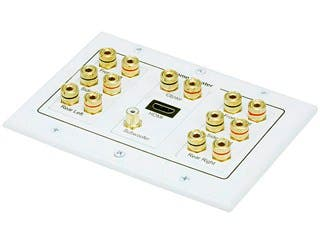 Product Image for Monoprice 3-Gang 7.1 Surround Sound Distribution Wall Plate with HDMI