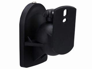 Monoprice Low Profile 7.5 lb. Capacity Speaker Wall Mount Brackets (Pair), Black