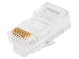 Product Image for 8P8C RJ45 Modular Plugs for Solid Cat5/Cat5e Ethernet Cable, 100 pcs/pack