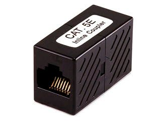 Product Image for Monoprice 8P8C RJ45 Cat5e Inline Coupler, Black