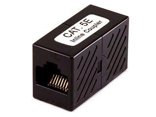 Product Image for 8P8C RJ45 Cat5e Inline Coupler, Black