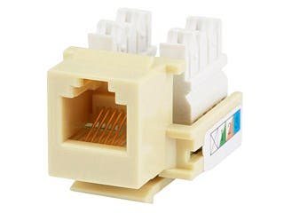 Product Image for Monoprice RJ12 Keystone Jack, 110 Type, Beige