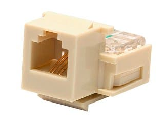 Product Image for Monoprice RJ11 Toolless Keystone Jack, Ivory