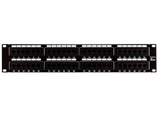 Product Image for Monoprice 48-port Cat6 Patch Panel, 110 Type (568A/B Compatible)