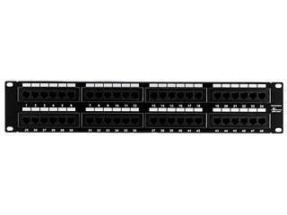 Product Image for Monoprice 48-port Cat5e Patch Panel, 110 Type (568A/B Compatible)