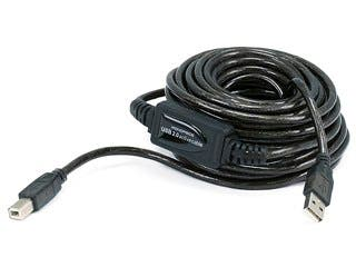 Product Image for Monoprice USB-A to USB-B 2.0 Cable - Active, 28/24AWG, Black, 33ft
