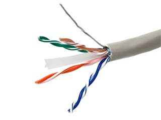 Product Image for Cat6 Ethernet Bulk Cable - Solid, 550Mhz, STP, CMG, Pure Bare Copper Wire, 24AWG, 1000ft, Gray