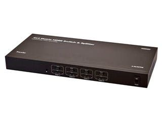 Product Image for 4x4 Matrix HDMI® Switch & Splitter over CAT5e/CAT6 Cable w/ Remote - Extend Upto 131ft