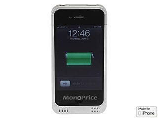 Product Image for Monoprice 1800mAh Backup Battery Case for AT&T iPhone 4