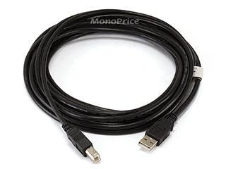 Product Image for Monoprice 15ft USB 2.0 A Male to B Male 28/24AWG Cable