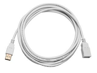 Product Image for 10ft USB 2.0 A Male to A Female Extension 28/24AWG Cable (Gold Plated) - WHITE