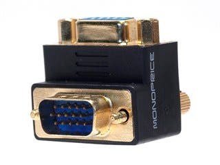Product Image for VGA Coupler (Female to Male) - 90 Degree (Gold Plated)