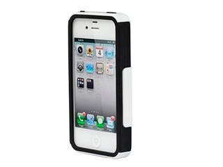 Product Image for Dual Guard PC+Silicone Case for iPhone® 4/4s - White