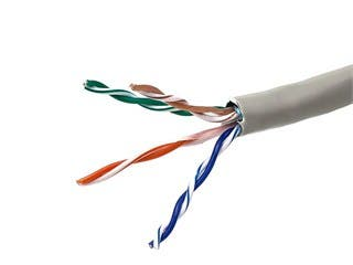 Product Image for  1000FT 24AWG Cat5e 350MHz STP Stranded, In-Wall Rated (CM), Bulk Ethernet Bare Copper Cable - Gray