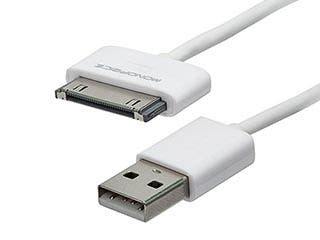 Product Image for 3ft SlimFit USB Sync Cable for all 30-pin iPad, iPhone, and iPod, White
