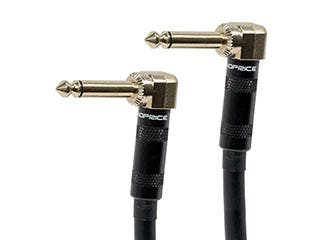 Product Image for Monoprice 1.5ft Premier Series 1/4-inch (TS) Right Angle Male to Right Angle Male 16AWG Audio Cable (Gold Plated)