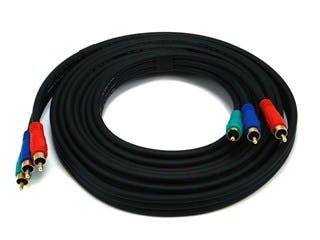 Product Image for 12ft 22AWG 3-RCA Component Video Coaxial Cable (RG-59/U) - Black