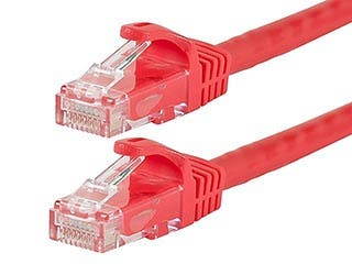 Product Image for FLEXboot Series Cat6 24AWG UTP Ethernet Network Patch Cable, 30ft Red