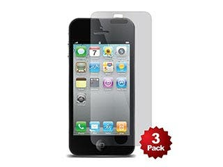 Product Image for Screen Protector (3-Pack) with Cleaning Cloth for iPhone 5/5s/5c, Transparent Finish
